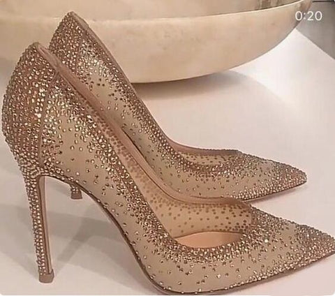 Sexy Bling Bling Crystal Wedding Shoes