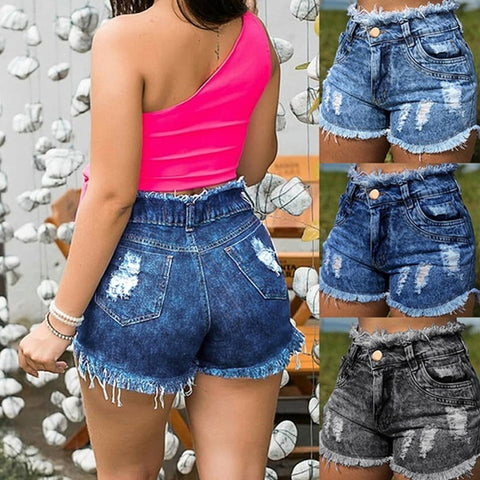 Casual Summer Cowboy Short Denim