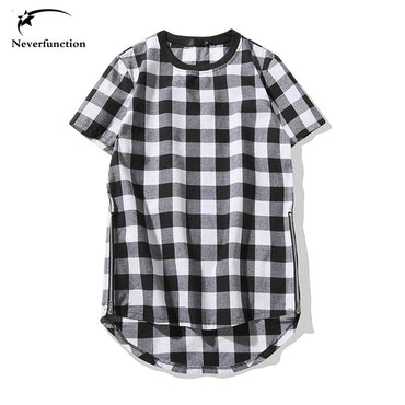 Fashion Brand Black & Red Plaid T Shirts