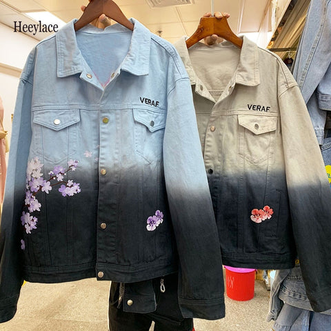 High Quality Hip Hop Denim Jacket