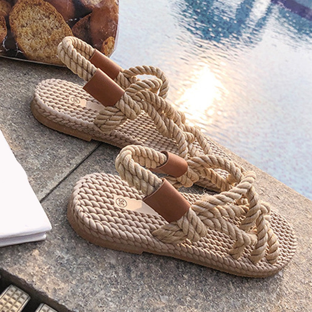 Braided Rope Casual Style Sandals