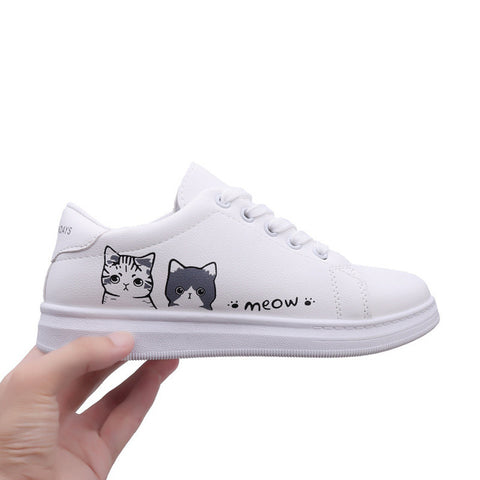 Vulcanized Pu leather Platform Sneaker Shoes