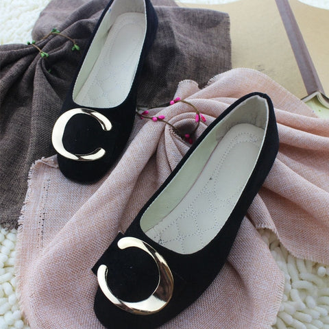New Slip-On Round Toe Casual Flat Shoes