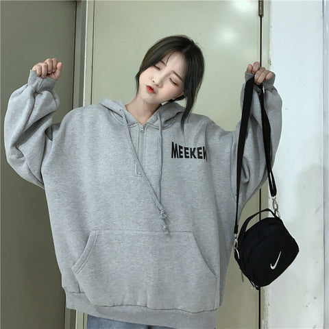 Letter Printed Trendy Pockets Hoodies