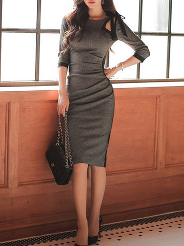 Elegant long sleeve dress