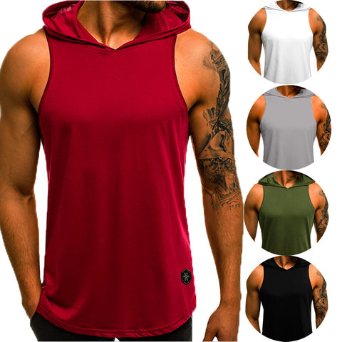 Fashion Sleeveless Hoodie T-Shirts