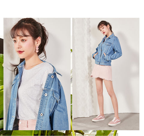 Collar Girl Boyfriend Denim Jacket