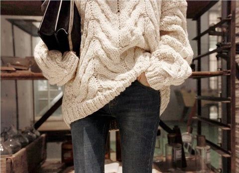 Long Sleeve Pullover Basic Sweaters