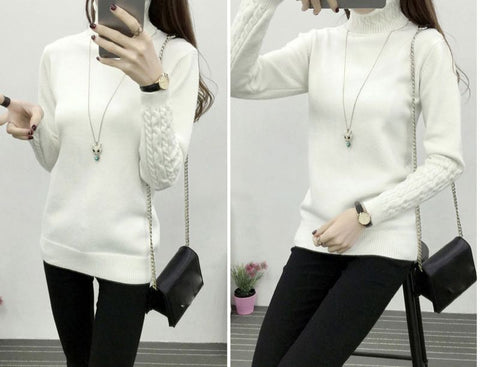 Knit Long Sleeve Cashmere Sweater