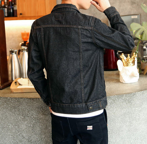 Bomber Thin Ripped Denim Jacket