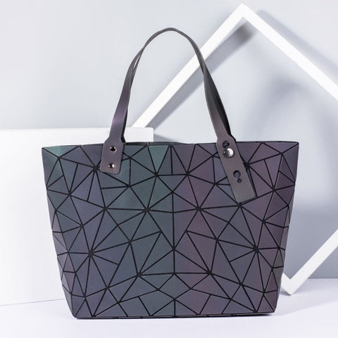 large-capacity holographic laser handbag