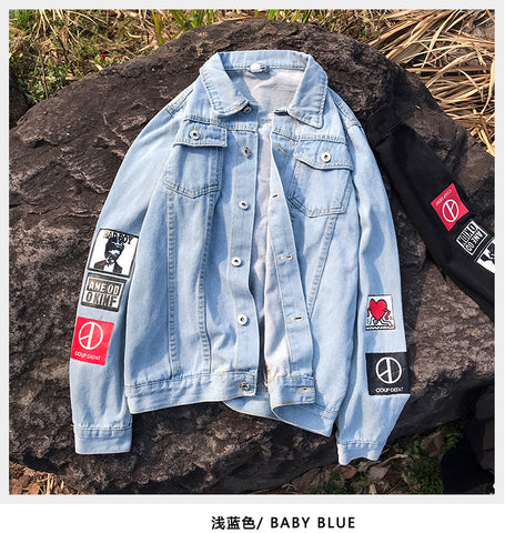Cowboy Slim Fit Bomber Jean Jacket