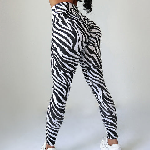 Sexy Zebra stripes Fitness leggings