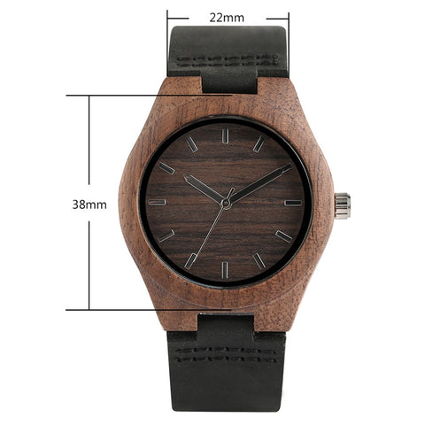 Simple Coffee Wood Case Watches