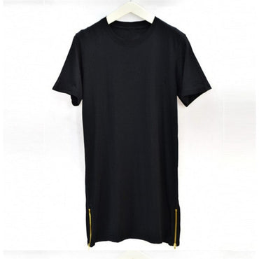 Zipper Long T-Shirt