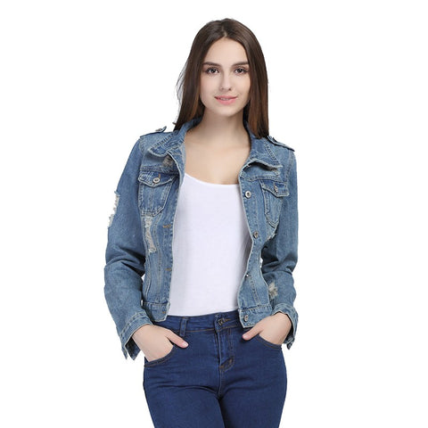 Basic Button Denim Jacket