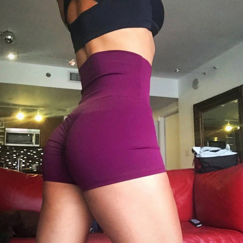 high waist red Shorts