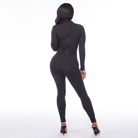 One piece Round Neck Back Zipper Jumpsuits