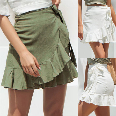 A-Line Pleated Chiffon Boho Beach Wrap skirts