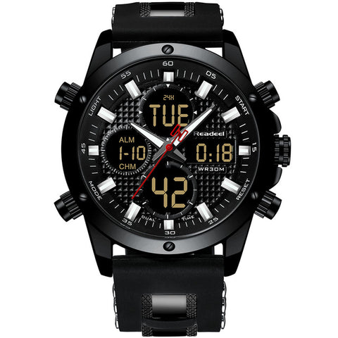 Top Brand Luxury Chronograph Gold Men Watch