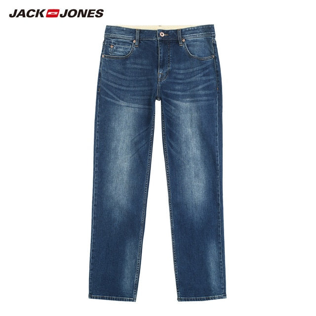 Elastic Cotton Denim Pants