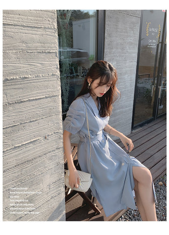 Solid Long Casual Dress
