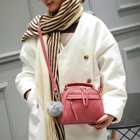 PU Leather Messenger Handbag