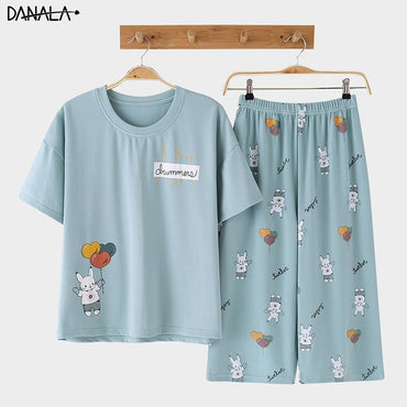 Cotton Casual Pajamas Sets