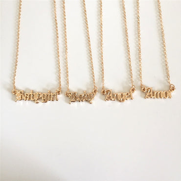 Jewelry Gold Letter Necklace
