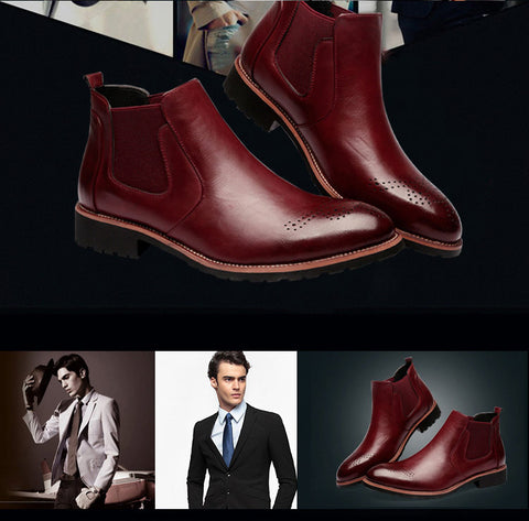 Classic Genuine Leather Ankle Chelsea Boots