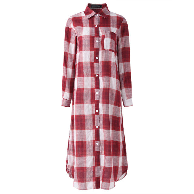Plaid Checked Long Dress