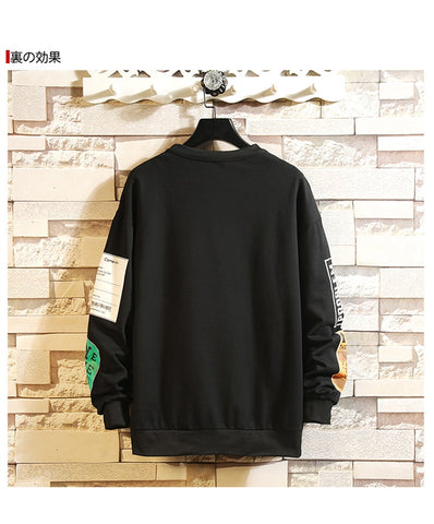 Hip Hop Oversizen Cotton Warm Black Sweatshirts