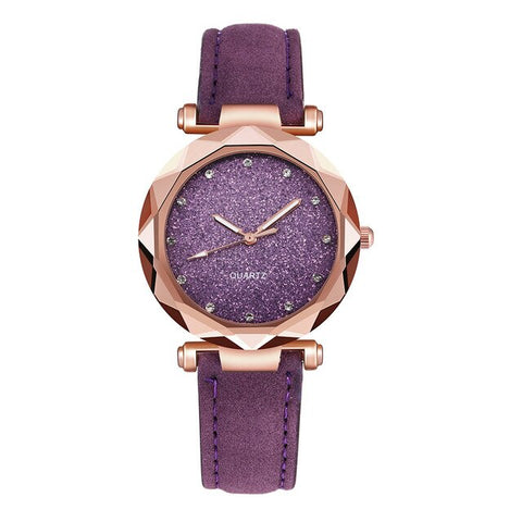 Leather Casual Romantic Rhinestone Watches