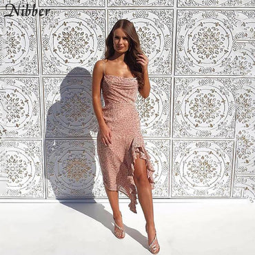 Pink leopard print Elegant dance Dress