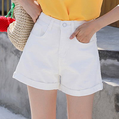 Korean Crimping High Waist Shorts