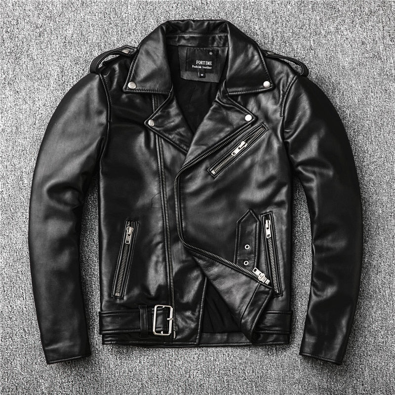 new genuine leather jacket
