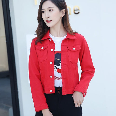 Long Sleeve Slim Denim Jacket