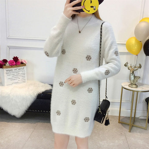 Knit Sweater Pullover Dress