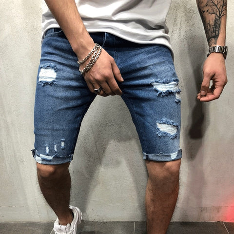 Denim Chino Shorts