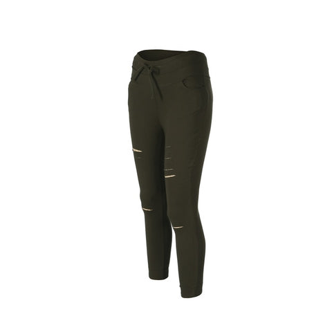 High Waist Slim Cargo Pants