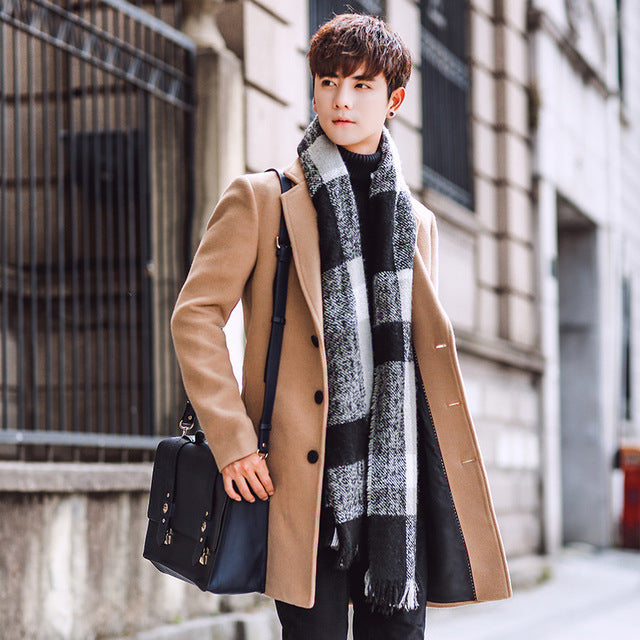 Fashion Brand Clothing Lined Warm Woolen Overcoat