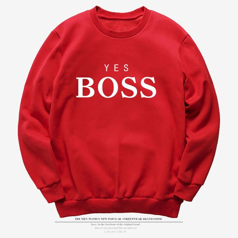 Causal Letter YES BOSS Printed Hooded Sweatshirt