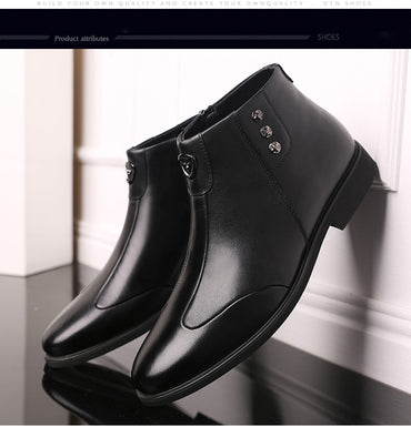 Black Zipper High-top Military Ankle Boots