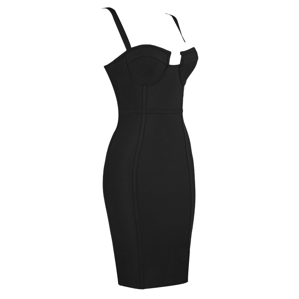 Rayon Bandage Bodycon Dress