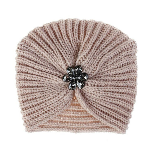 knitted Cap Boho Soft Hair Accessories