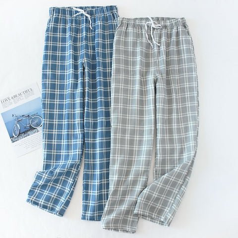 Plaid Knitted Pants Sleepwear