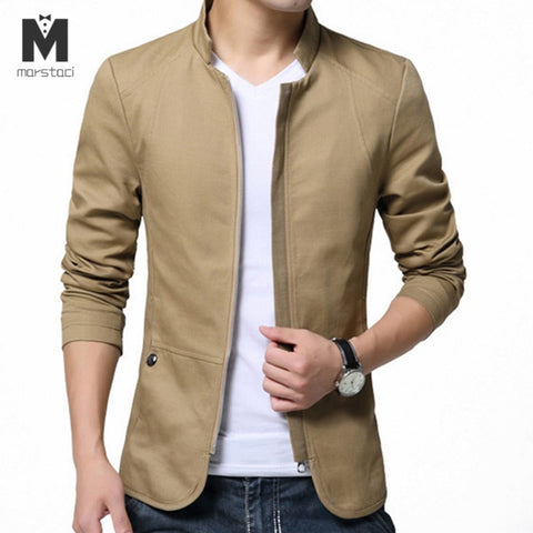 Fashion Cotton Slim Windbreaker Jackets