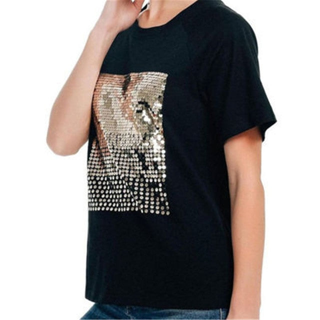 Loose fit Sequins T Shirt