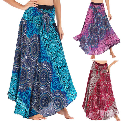 Long Hippie Gypsy Floral Skirt