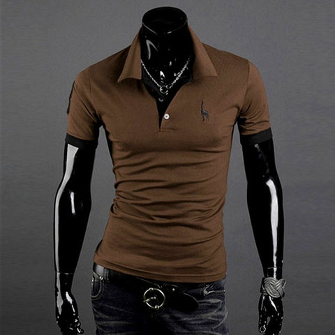 Short Sleeved Turndown Collar Casual tshirt